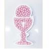 Calice Prima Comunione porta confetti polistirolo h 30 cm