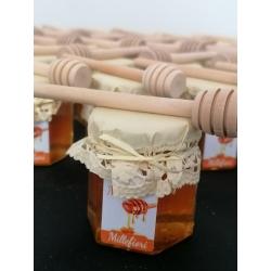 Miele in vasetto da 55 gr completo di spargimiele