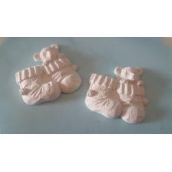 Orsetto nei calzini in gesso ceramico profumato