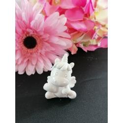 Unicorno 3d in gesso ceramico profumato 5 cm